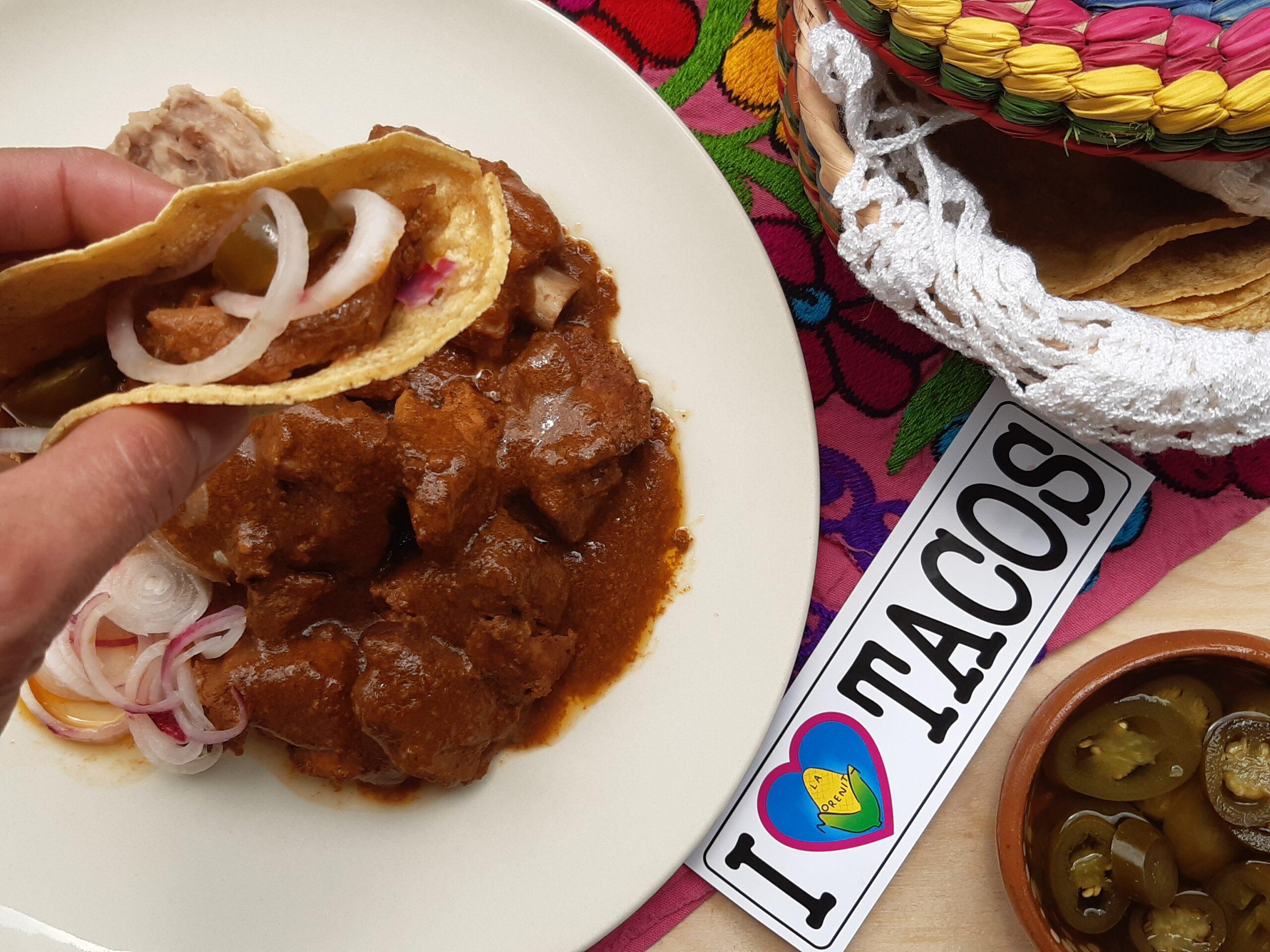tacos tatemado di Colima